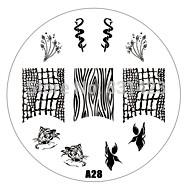 2015 new A Series A28 Nail Art Polish DIY Stamping Plates Image Templates Nail Stamp Stencil