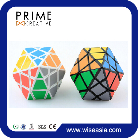Keychain Anti Stress Abnormity Speed Cube 12 Faces 3 Layers Fidget Magic Plastic Cube Speed Twist Polyhedron Puzzle Cube Toy