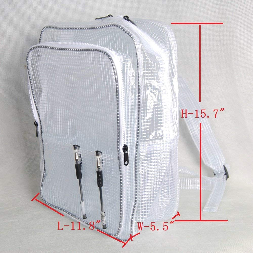 Get Quotations 15 7inch 40cm30cm18cm Anti Static Clear Pvc Backpack Cleanroom Engineer Tool Bag Full Cover