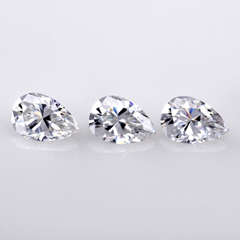 Superior Sparkle White Color Loose Synthetic Diamond Pear Shape Moissanite For Earrings