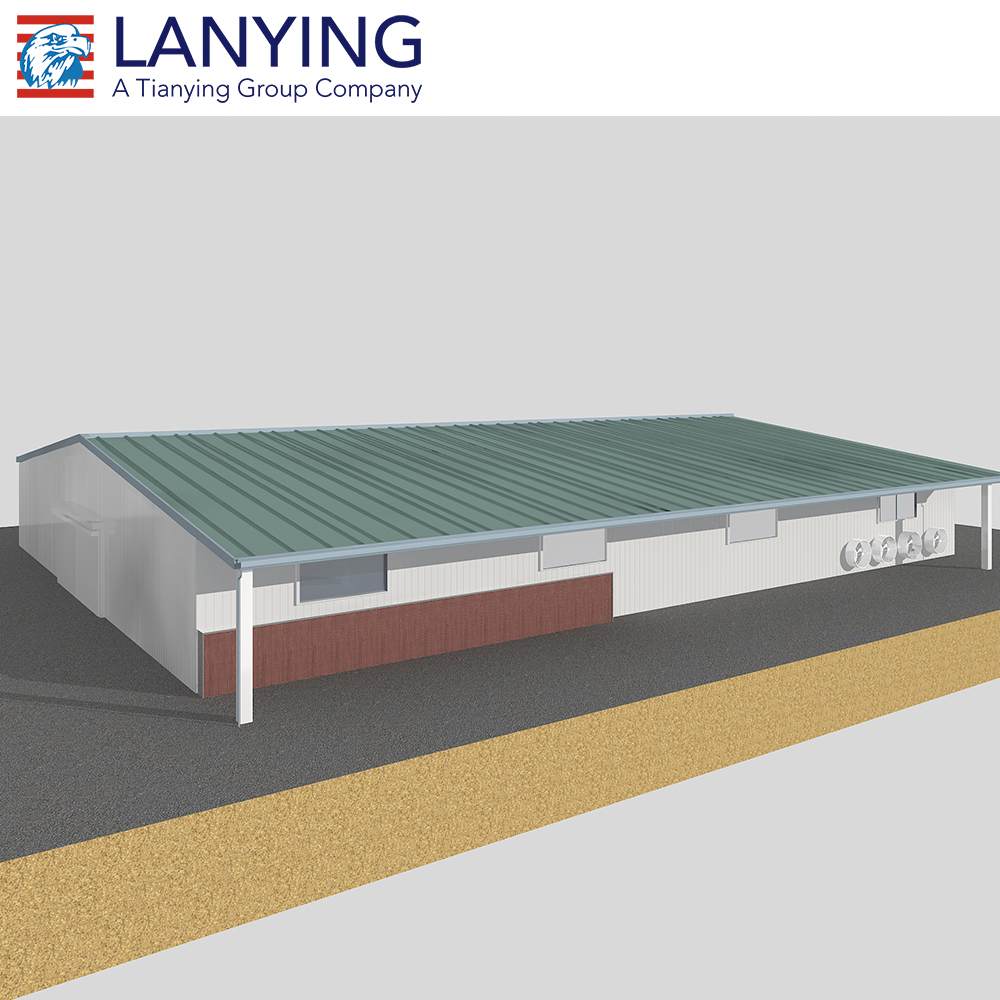 Steel structure and sandwich panel low cost poultry farm house design
