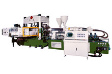 Two Colour Rotary Type Rain Boots Automatic Injection Moulding Machine