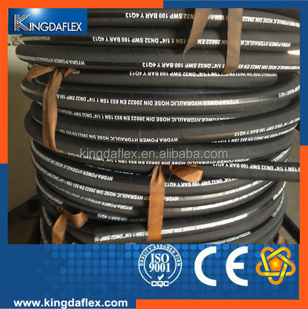 Kingdaflex rubber products good quatity steel wire braided rubber hydraulic hose SAE 100R1AT/ DIN EN853 1SN