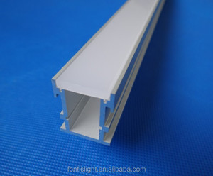 Waterproof led profile for floor strong PC diffused cover 3mm thickness LED Aluminium Profile for led strip light