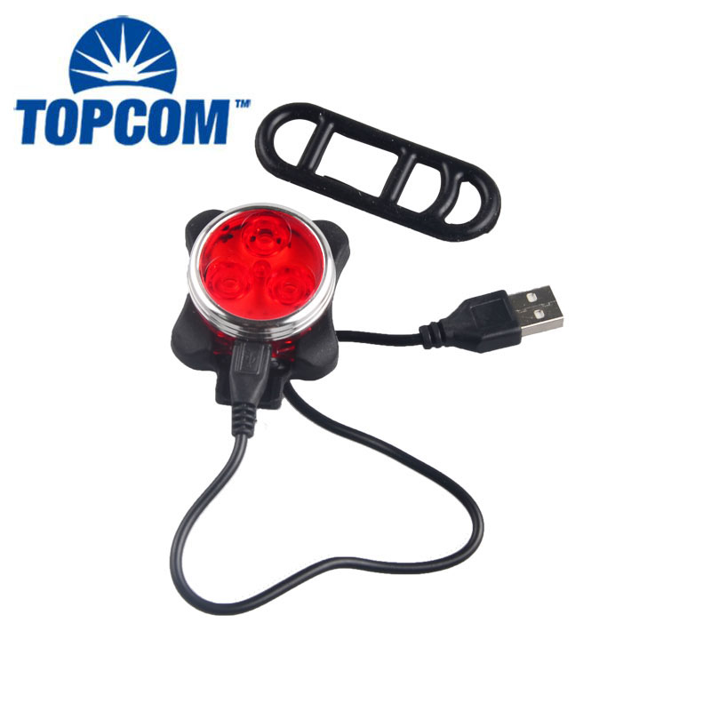 3 LED USB Bicycle Rechargeable Light Handlebar/Frame Mini Rear /Tail Bike Light