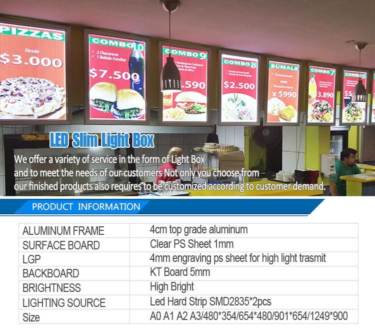 Led Slim Snap Frame Advertising Display Light Box Manufacturer ...