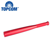 Red Color Waterproof Aluminum Tactical Baton Flashlight For Female Self-Defense