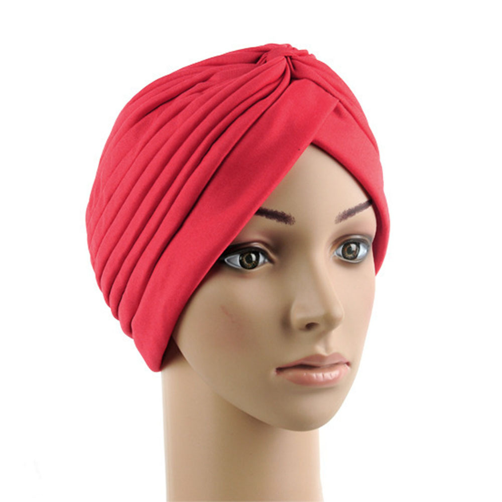 967aae5ffd0 Buy Indian Stretchy Turban Hat Head Wrap Band Chemo Bandana Hijab Pleated  Bonnet - Feedback(835 store Orders (3203)) at AliExpress - Chinese Goods  Catalog ...