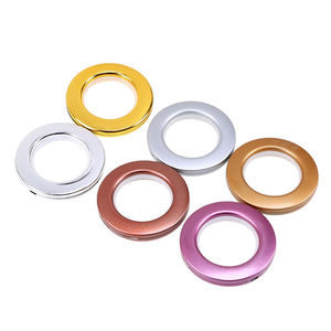 Low Noise Plastic Curtain Tape Eyelets Ring For Drapery