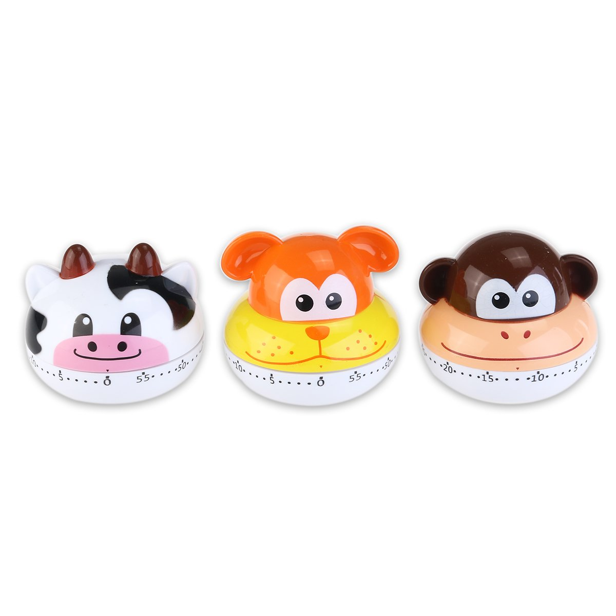 Tinksky Cartoon Mini Kitchen Cooking Timer Cute Animal Kitchen Timer (Random Style)