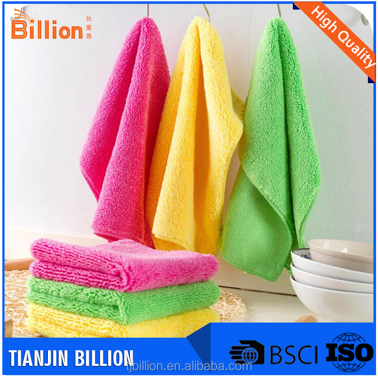Wholesale excellent dust removing ability microfiber cloth easy to make it clean and quick dry