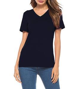 9d7f7b26e1 Custom high quality Womens Short Sleeve T Shirts V Neck Cotton Shirts  Casual Tops Tees tshirt