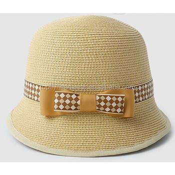 New design mulheres palha chapéus de panamá chapéu de palha de papel com aba  curta para 5d211a589b7