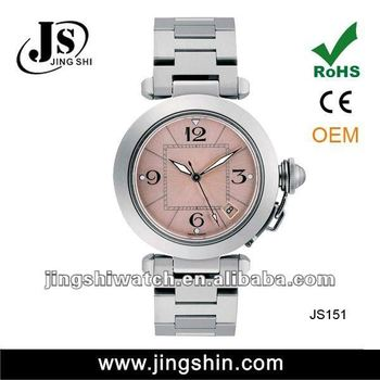 Js151 Japan Movement Watch Stainless Steel Back