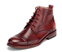 2017 High Quality genuine leather men work boots chaussures homme
