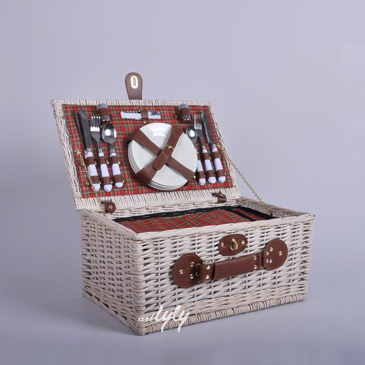 insulated picnic basket with cooler bag wholesale