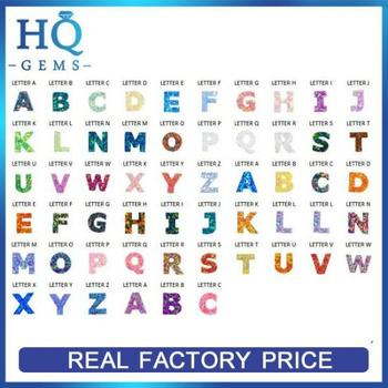 different color christmas gift synthetic alphabet a z 26 letter opal
