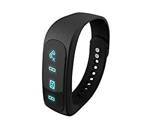 OWIKAR Bluetooth 4.0 Smart Bracelet Sports Wristband Pedometer Sleep Monitor Anti-lost Call/SMS Reminder Fitness Management Digital Wrist Watch For IOS Android Smartphones Black (black)
