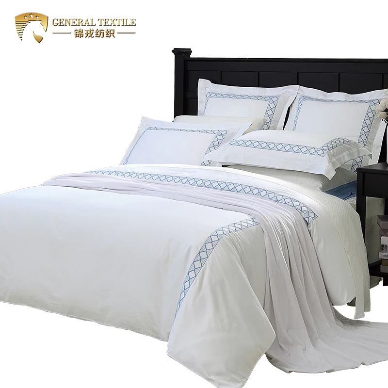 Wholesale free sample factory direct embroidery hotel design bedding set