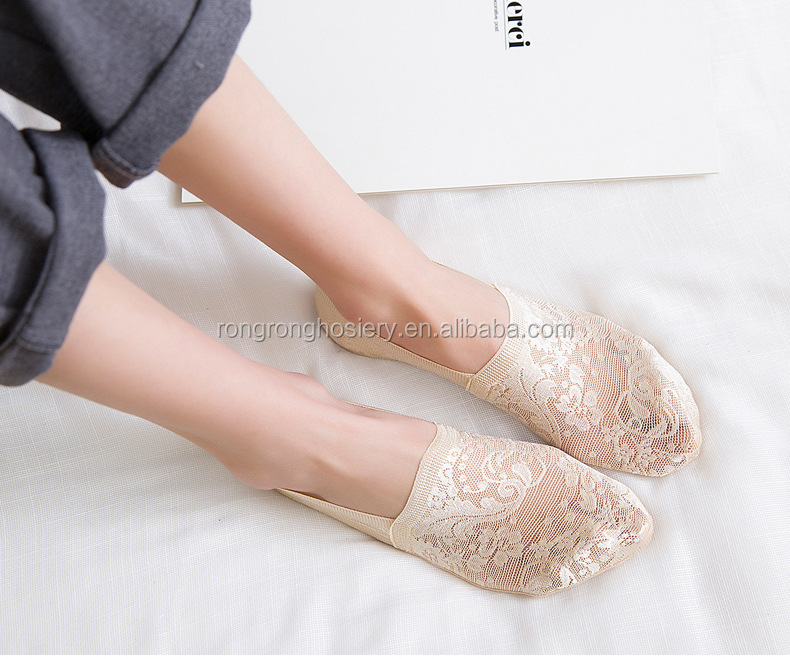 Ballerina H-Q Ladies Lace Footsies Liner Ankle Invisible in Shoes Short Socks