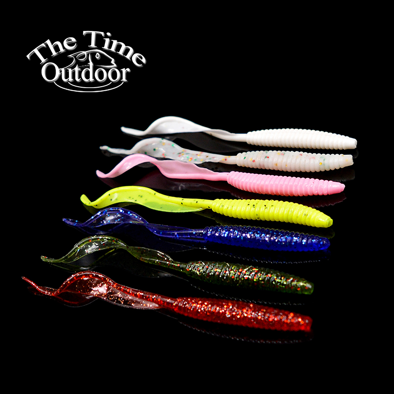 New Arrive <strong>Fishing</strong> Lure Soft Plastic Bait Long Curly Tail Multi-colour Soft Plastic Lure