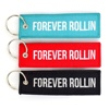Wholesale Cheap Customized Personalized Fabric Patch Woven Embroidery Keychain