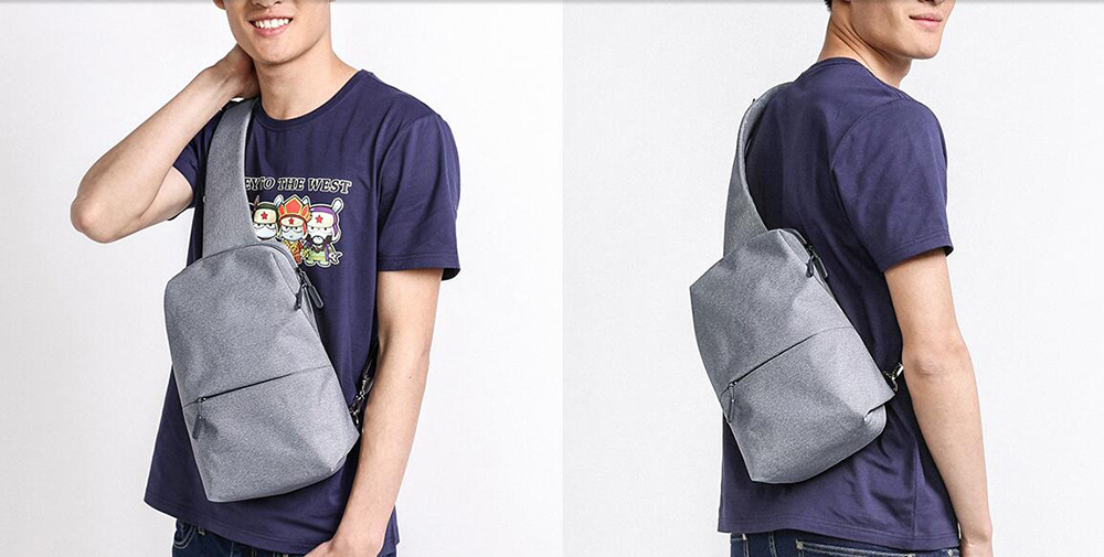 e7dcbe2a3431 Original Xiaomi Backpack Mi City Sling Bag Leisure Chest Pack Small Size  Shoulder Type Unisex Rucksack
