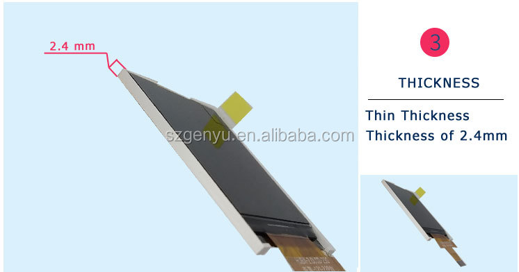 tft lcd module 2.0 transparent color lcd