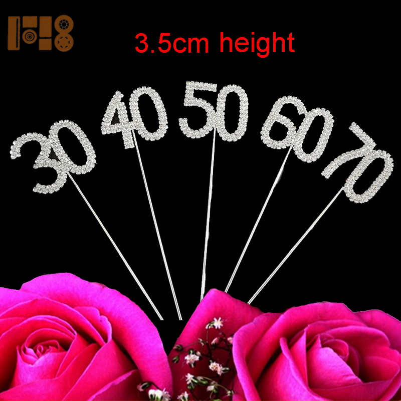 Manufacturer 30th 40th 50th 60th 70th Birthday Wedding Anniversary Number Cake Topper Buy 50th Anniversary Cake Toppers 60th Birthday Cake