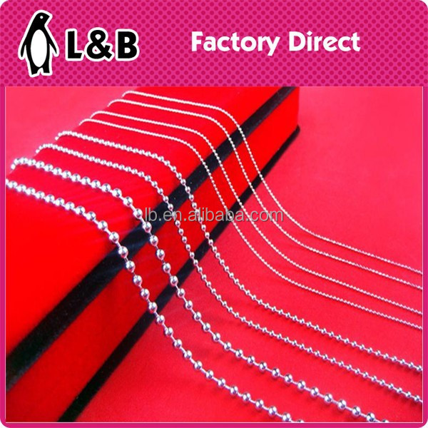 high quality fine silver necklace bead chain