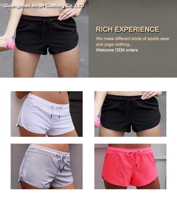 YX Fashion  Hot sale anti-emptied fitness yoga short pants