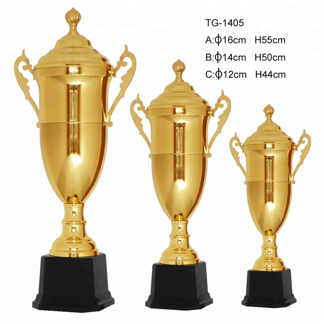 China factory wholesales pewter cup shape trophy