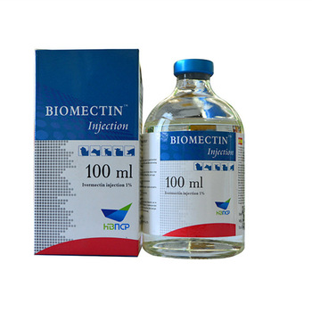 Ivermectin liquid injection 1% 100ml glass bottle