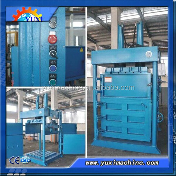 2015 High efficiency Hydraulic vertical Ring-pull Can baling press machine supplier
