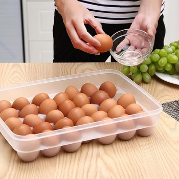 Egg Storage Box 34 Girds Plastic Egg Case Organizer Holder Box Container Egg Case for Refrigerator Capacity
