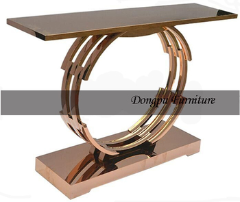 Hotel Furniture Hobby Lobby Italian Rose Gold Metal Console Table  Antique  X02