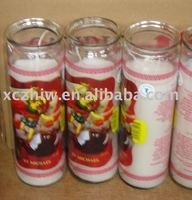 diameter6.3cm,high21cm seven days religiouscandles