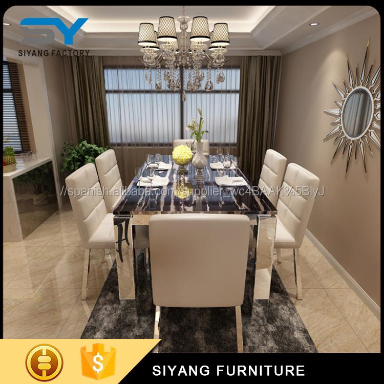 Muebles para el hogar mesa de comedor con 201 # CT031 base de acero ...