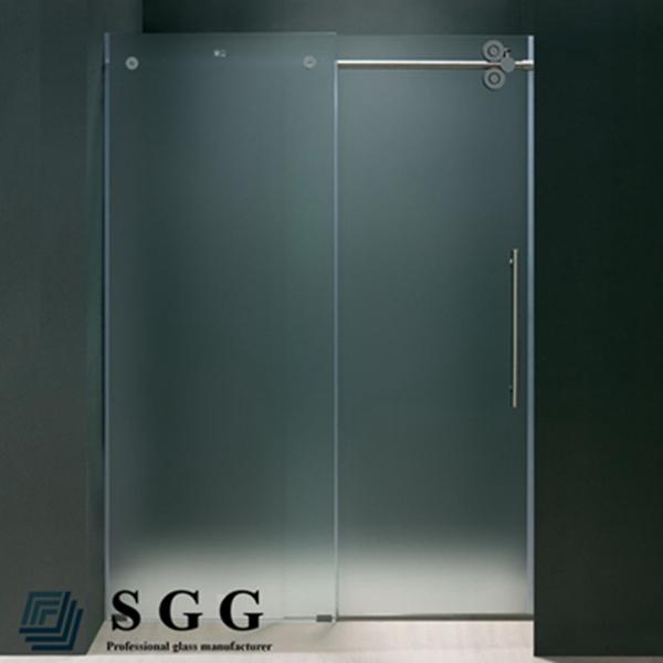 Opaque Single Shower Doors frameless smart glass shower door, frameless smart glass shower