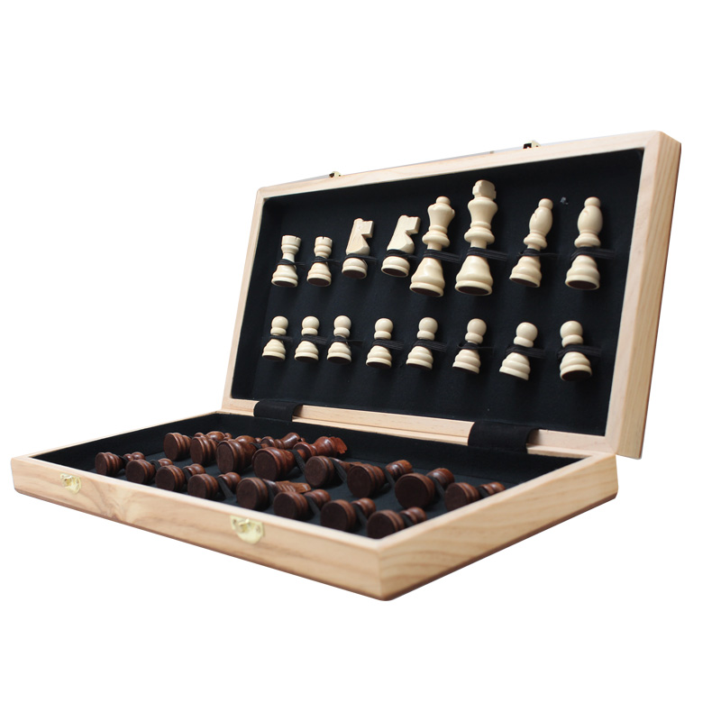 Reisen Sie personalisierte Classic Wooden Chess Game Set