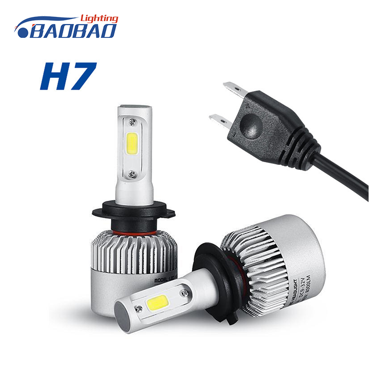 Auto parts 40w car head light bulb h4 h8 h9 h11 9005 9006 super bright led headlight bulb h7 car led headlight