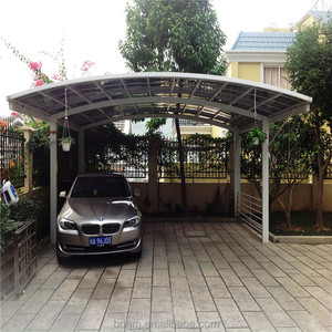 M TYPE French style awnings/Aluminum Carport with Polycarbonate Roofing 10 Years Warranty