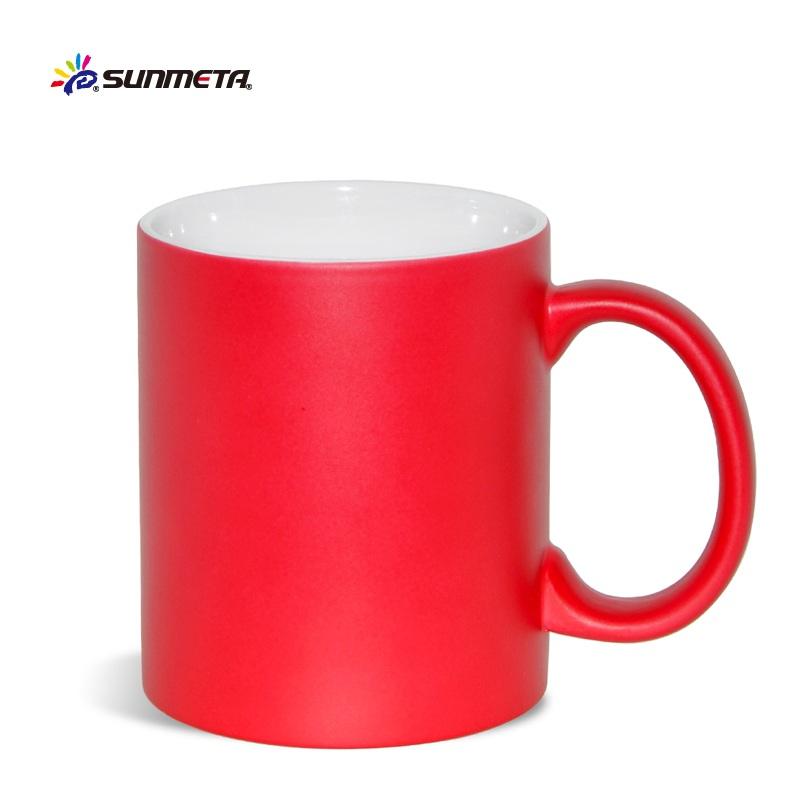 Sunmeta Factory Ceramic 11oz Whole Cups To Sublimation Magic Mug Skb 05 Color Changing
