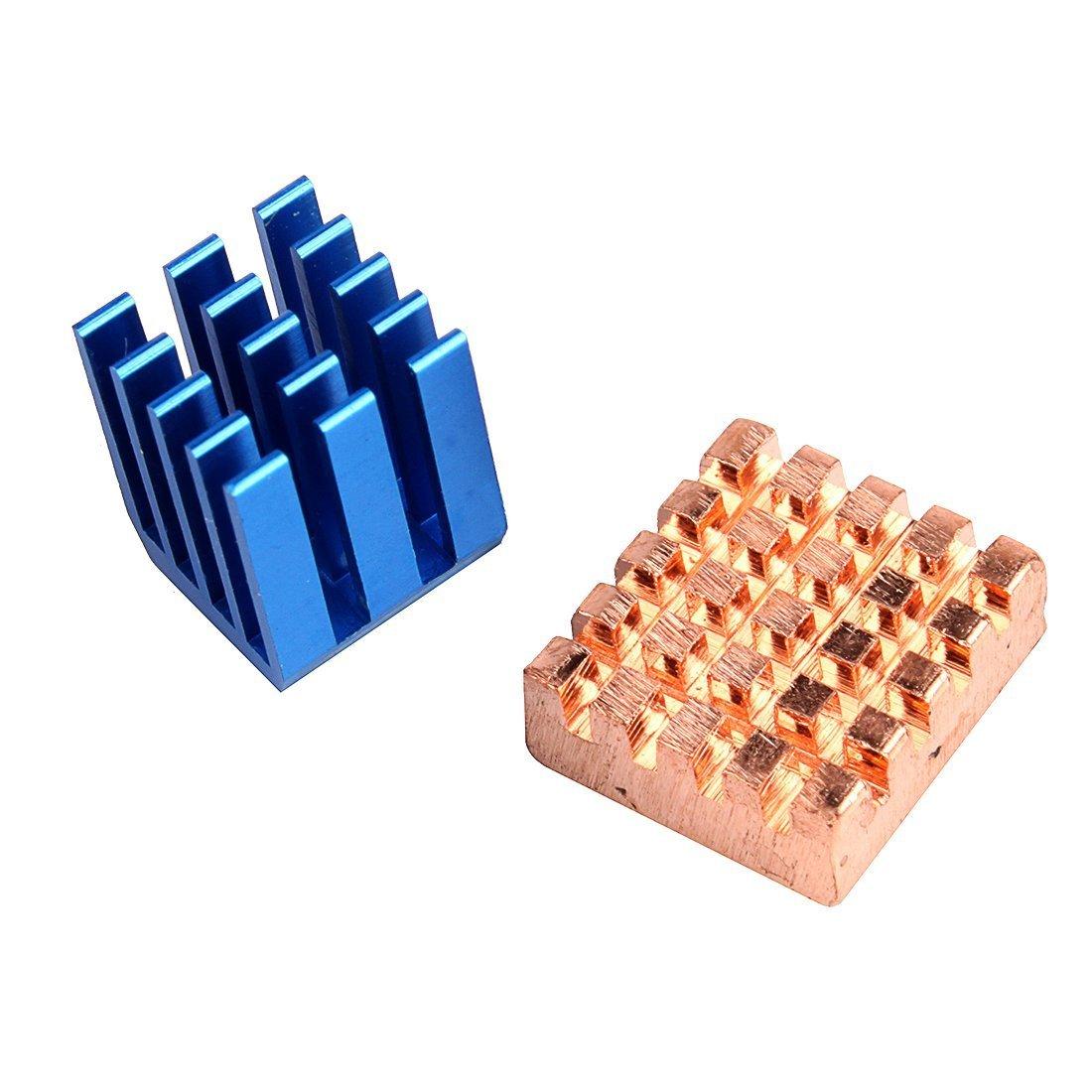 Makerfire 2pcs RPI Copper Aluminium Cooling Heatsink for Raspberry Pi B+ Raspberry Pi 2