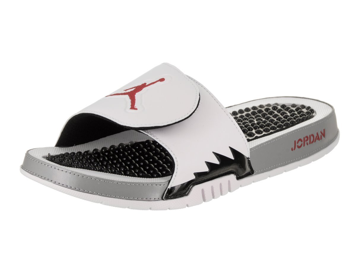 2f035e058a70d3 Get Quotations · Jordan Hydro 5 Retro Men s Slides White University Red Black  555501-112 (