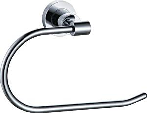 AZOS Wall Mounted Chrome Polish Silver Color Towel Holder Towel Rings Towel Racks Towels Hanger Bathroom Accessories Shower Hardware Components GJML1904B