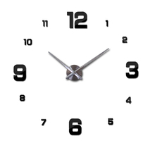 Home decoration black digital wall clock Modern design big wall sticker wall clocks wall watch unique gift W005b