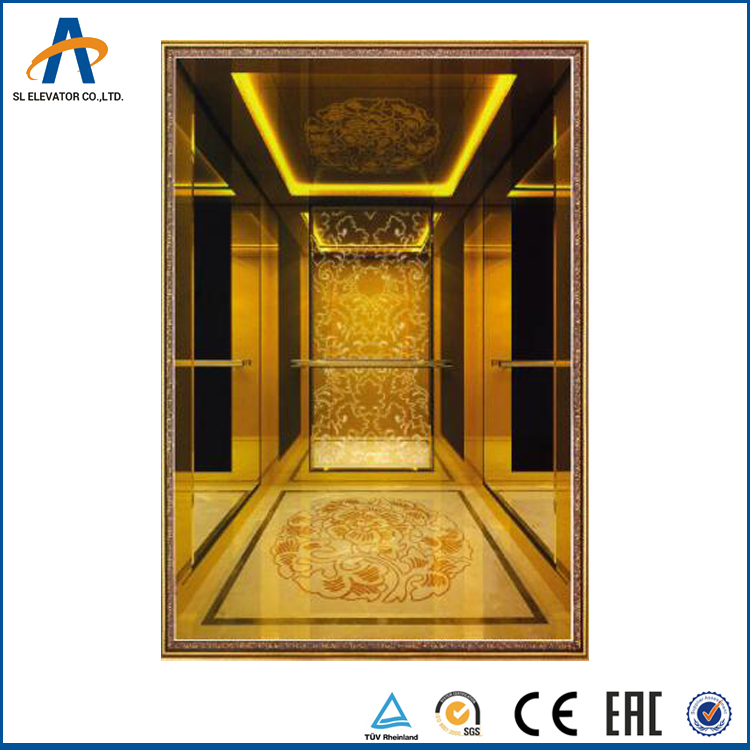 Hot Selling solid guide rail passenger elevator 630kg