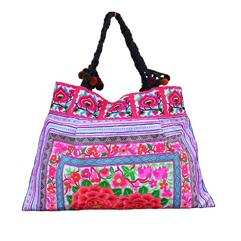 7cbe72224d Hmong Shoulder Bag Hilltribe Large Tote Ethnic Purse Handbags Embroidered  HMT19