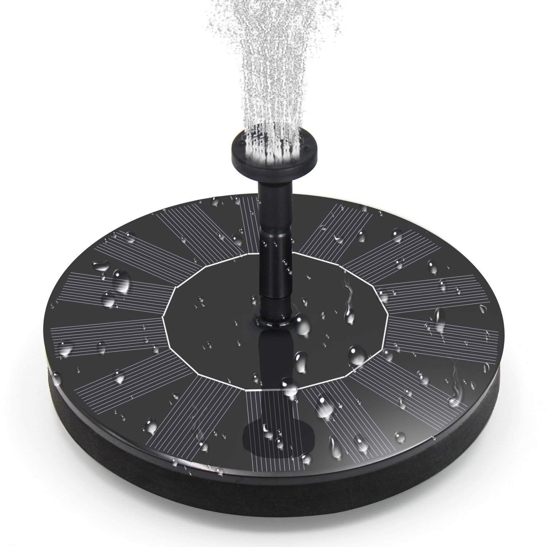 BOBOO Solar Fountain Pump,Free Standing Solar Powered Bird Bath Fountain Water Pump,1.4W Solar Outdoor Floating Fountain Pump Kit,for Garden, Pool, Pond, Patio Ideal Decoration